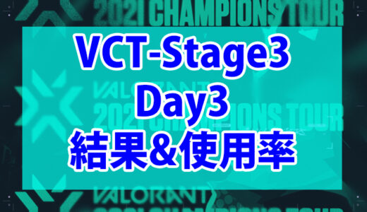 【Valorant】VCT Stage3-MASTERS BERLIN-Day3の結果、使用キャラまとめ【データ】