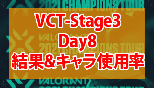 【Valorant】VCT Stage3-MASTERS BERLIN-Day8の結果、使用キャラまとめ【データ】