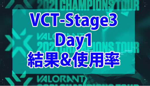 【Valorant】VCT Stage3-MASTERS BERLIN-Day1の結果、使用キャラまとめ【データ】